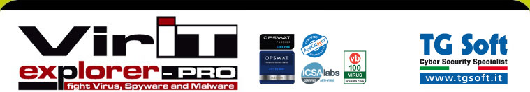 TG Soft Cyber Security Specialist - Vir.IT eXplorer: l'AntiVirus, AntiSpyware, AntiMalware e AntiRansomware protezione Crypto-Malware